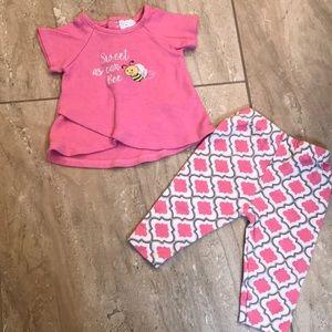 """Sweet as can Bee"" pink nursery rhyme outfit"